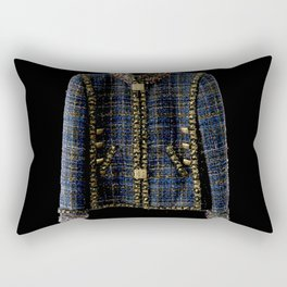 coco vintage blue and gold jacket Rectangular Pillow