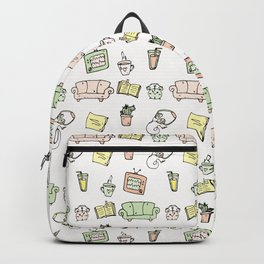 Aesthetics: abstract pattern - stay home Backpack