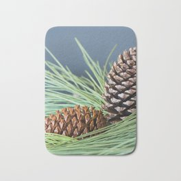 Pinecones and needles Bath Mat