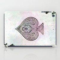 ace iPad Cases featuring ace card by Maria Enache