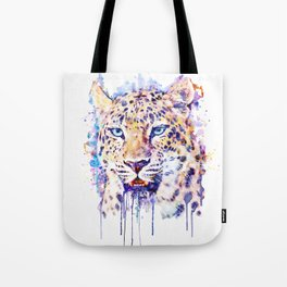 Watercolor Leopard Head Tote Bag