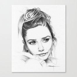 Elizabeth Olsen Canvas Print