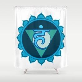 Vushuddha Throat Blue Chakra Shower Curtain