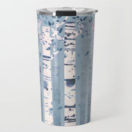 The Birches (in Blue) Travel Mug