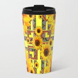 KANSAS WESTERN STYLE YELLOW SUNFLOWER FLORAL Travel Mug