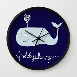 Whaley Love You Wall Clock