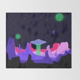 Hello ufo Throw Blanket