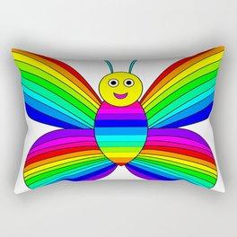 Rainbow Butterfly Rectangular Pillow