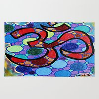 om Area & Throw Rugs featuring OM by Art By Carob