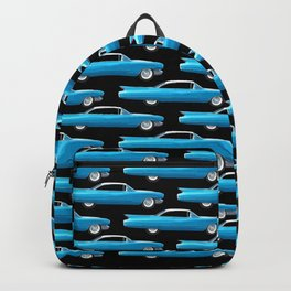 60's well finned Caddy in blue - pattern version Backpack