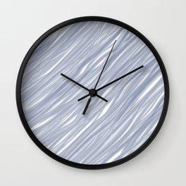 The silver sea - Simple light blue pattern Wall Clock