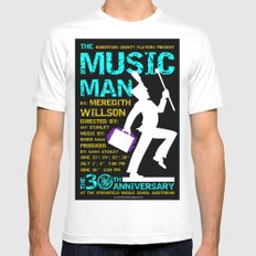 The Music Man MEDIUM Mens Fitted Tee White