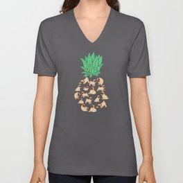 Pug Pineapple Unisex V-Neck