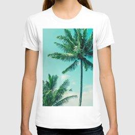Keanae Tropical Summer Palm Trees Maui Hawaii T-shirt