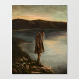 Something About Silence Canvas Print