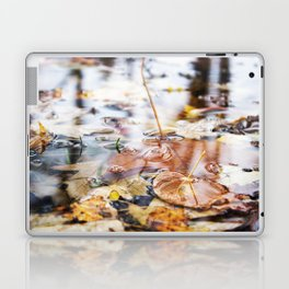 Autumn Leaves in Lake Laptop & iPad Skin