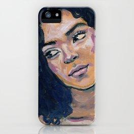 Janine - Gouache portrait #1 iPhone Case
