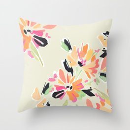 Mod Floral Throw Pillow