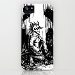 Silent Night Horror iPhone Case