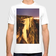 On The Edge White MEDIUM Mens Fitted Tee