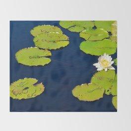 Dark Blue Pond by Teresa Thompson Throw Blanket