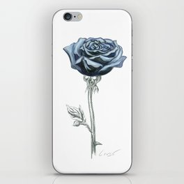 Rose 03 Botanical Flower * Blue Black Rose : Love, Honor, Faith, Beauty, Passion, Devotion & Wisdom iPhone Skin