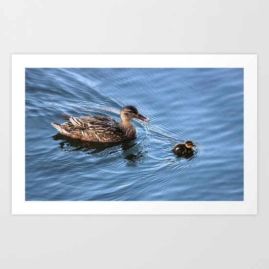Swimming Lesson Art Print