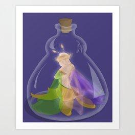 Fairy In A Bottle Art Print