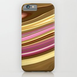 Blurred modern marble granite smooth liquid print iPhone Case