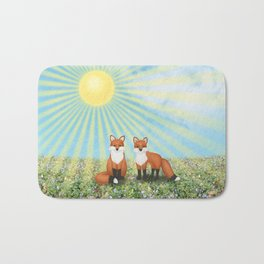 2 foxes Bath Mat
