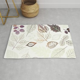 Purple Leaf Rug