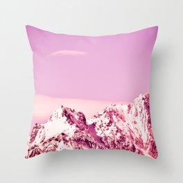 PINK MOUNTAINS Throw Pillow