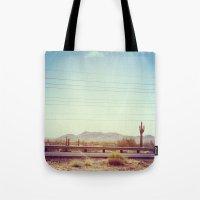 desert Tote Bags featuring Desert by Whitney Retter