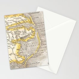 Vintage Map of The Outer Banks (1818) Stationery Cards