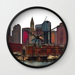 Boston Harbour, Boston, USA Wall Clock