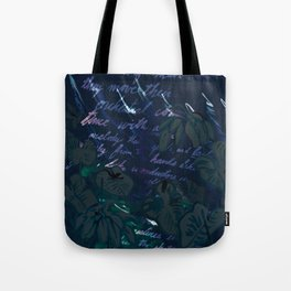 """""""Conquest of the Useless"""" by Werner Herzog Print (v. 11) Tote Bag"""