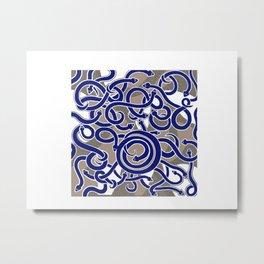 blu snakes Metal Print