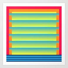 Gradient Fades v.2 Art Print