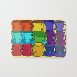 Tea Cups and Coffee Mugs Spectrum Bath Mat