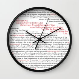 American Pie (all of it) Wall Clock