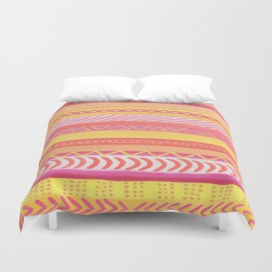 Tribal#1 (Orange/Pink/Yellow) Duvet Cover