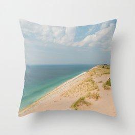 Summer at the Dunes Throw Pillow