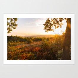 Sunrise at Taum Sauk Mountain Art Print