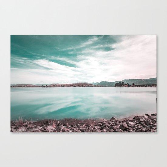 Green Lake #reflections Canvas Print