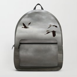 October Storm, Headed Home (Snow Geese) Backpack