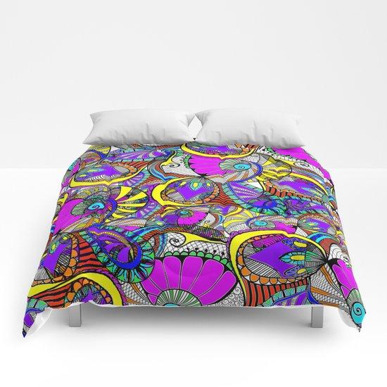 crazy zentangle Comforters