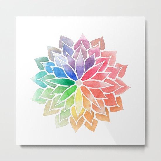 Multicolor Mandala Metal Print
