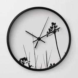 SEA PLANTS B&W Wall Clock