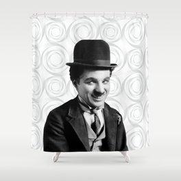 Charlie Chaplin Old Hollywood Shower Curtain