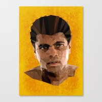 ali gulec Canvas Prints featuring Ali by Patrick Anthony Leverton